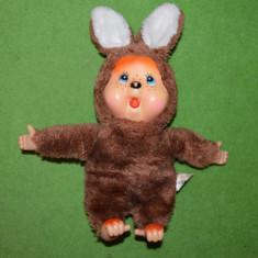 RAR - Jucarie plus mascota Monchhichi (kiki) iepure Heunec 30 cm DEOSEBIT! - Jucarii plus