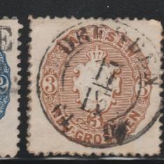 Sachsen - State Germane 1863, Mi nr 17, 18 - stampilate, Germania