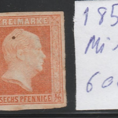 Prusia - State Germane 1850, Mi nr 1 - neuzat, Germania, Nestampilat