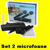 MICROFOANE set x 2 MICROFON WIRELESS   fara fir pt gradinita karaoke chef, etc