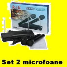Set 2 microfoane Wireless gradinita karaoke chef - Microfon