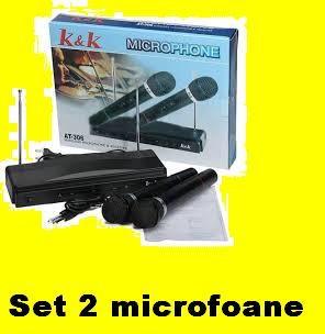 Set 2 microfoane Wireless  gradinita karaoke chef foto