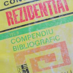 Concurs rezidentiat - Compendiu bibliografic (vol.2)