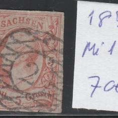 Sachsen - State Germane 1856, Mi nr 12 - stampilat, Germania