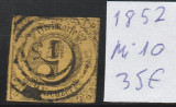 Thurn and Taxis - State Germane 1852, Mi nr 10  - stampilat, Germania