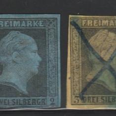 Prusia - State Germane 1850, Mi nr 2, 3, 4 - stampilate, Germania