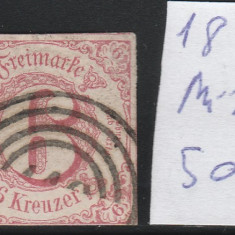 Thurn and Taxis - State Germane 1859, Mi nr 22 - stampilat, Germania