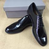 pantofi PIELE NATURALA negru marimie 40-45