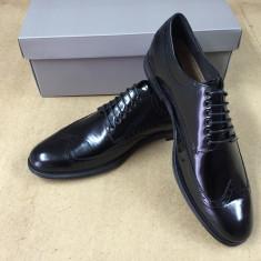 Pantofi PIELE NATURALA negru marimie 40-45 - Pantofi barbat, Marime: 44