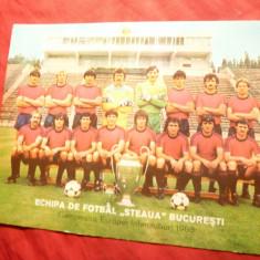 Fotografie Fotbal - Echipa Steaua Bucuresti -Cupa Campionilor, semnaturi spate