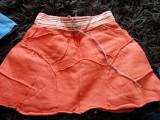 Fusta, fustita de zi cu zi pentru fetite, 10-12 ani, comoda, mai grosuta, Orange