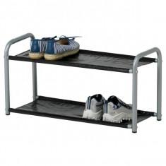 Suport metalic pentru pantofi cu 2 etaje - 60 cm lungime - Nou - Pantofar hol