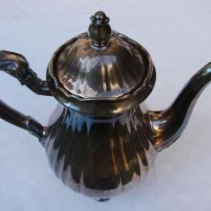 Impresionant ceainic din portelan argintat marca Furstenberg, Decorative