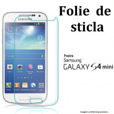 FOLIE STICLA Samsung Galaxy S4 MINI 0.33mm, 2.5D tempered glass antisoc PROTECTIE - Folie de protectie
