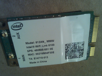 Samsung X360 NP-X360 WiFi Link 5100 Intel 512AN_MMW foto