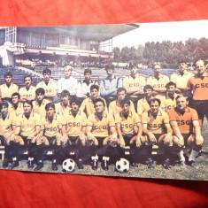 Fotografie Fotbal - Lotul Echipei Otelul Galati 1988-1989, 20x12 cm