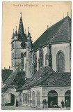 3343 - Alba, SEBESUL SASESC, Evangelical Church - old postcard - used - 1910, Circulata, Printata