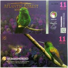 ATLANTIC FOREST- 11 AVES 2016(2015)- UNC!! - bancnota america