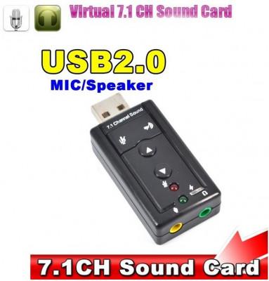 Placa de sunet / audio 7.1 CH externa 3D sound conectare USB foto