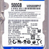 HDD 500 GB S-ATA II 5400 RPM 8 MB BUFFER WESTERN DIGITAL WD5000BPVT NOU