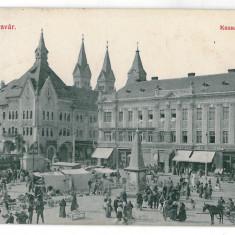 3358 - TIMISOARA, market - old postcard - used - 1912 - Carte Postala Banat 1904-1918, Circulata, Printata
