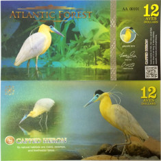 ATLANTIC FOREST- 12 AVES 2016(2015)- UNC!! - bancnota america