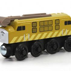 Locomotiva Diesel 10, colectia Thomas si prietenii sai, Fisher Price - Trenulet Fisher Price, 4-6 ani, Lemn, Unisex