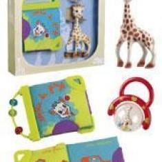 Set cadou jucarii activitati girafa Sophie - Jucarie interactiva Vulli