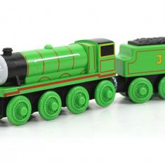 Locomotiva Henry, colectia Thomas si prietenii sai, Fisher Price - Trenulet Fisher Price, 4-6 ani, Lemn, Unisex
