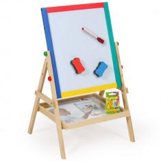 Set tablita lemn magnetica 2 in 1 scris cu creta si marker