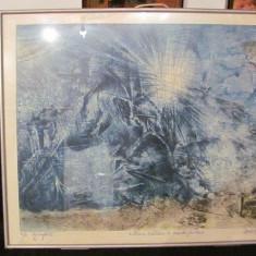 """PVM - Tablou """"Ultima calatorie a Vasului Fantoma"""" acvaforte semnat Dodi Romanati"""