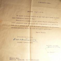 Adresa Fed.Romane Sky, Pres.I.Dimancescu, - numire Dr.Dumitrescu in Comitet 1943