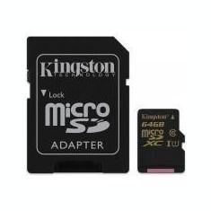 MICROSDXC 64GB CL10 UHS-I 90R/45W W/AD Kingston