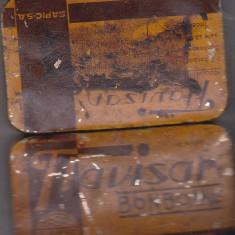 Bnk div - Cutie metalica veche pentru bomboane Flavisan - SAPIC SA - Cutie Reclama