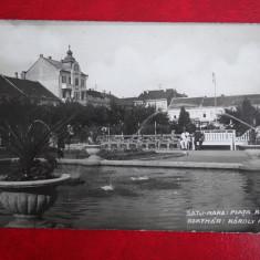 Vedere - Carte postala - Satu - Mare - Piata Reg. Carol - Carte Postala Banat dupa 1918, Necirculata, Fotografie