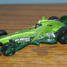 Macheta jucarie Masinuta Hot Wheels metal F-Racer, Hotweels 2003 Mattel Inc. Thailand 7.5cm