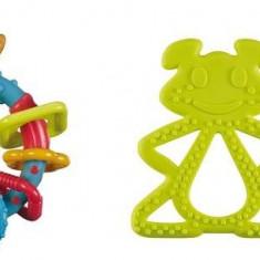 Vulli set inel dentitie Chan Pie Gnon si zornaitoare multicolora - Jucarie interactiva
