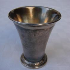 Pahar din alama argintata marcat GAB NS, Pahare