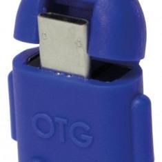 Adaptor OTG micro-USB la USB, (T/M), blue, Logilink (AA0066)