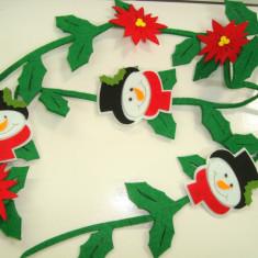 Ghirlanda de fetru lungime 150 cm - decor Craciun - Ornamente Craciun