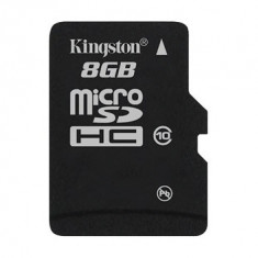 MICRO SD CARD KINGSTON model: SDC10/8GB capacitate: 8 GB clasa: 10 culoare: NEGRU - Card memorie