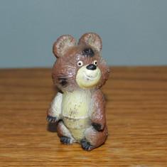 Figurina Ursuletul Misha (urs) de la jocurile Olimpice Moscova 1980, ascutitoare - Figurina Animale
