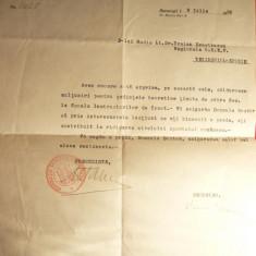 Adresa-Antet Fed.Romana Natatie catreCol.Tr.Demetrescu Eforie 1936, stamp. Fed. - Hartie cu Antet