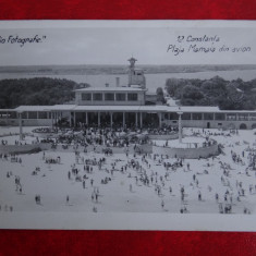 Vedere - Carte postala - Constanta - Plaja Mamaia din avion - Carte Postala Banat dupa 1918, Necirculata, Fotografie