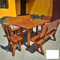 Set cu 2 banci, 2 scaune Bucuresti Gardenland - MSE 013 - Set gradina
