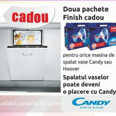 Masina spalat vase Candy CDI 5153 E10 / 3-S - Masina de spalat vase Candy, Incorporabil