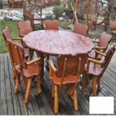 Set rotund si scaun cu cotiere Gardenland - MSE 002 - Set gradina