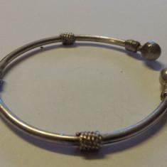 Foarte Veche Bratara Argint reglabila Vintage executata manual Clasica Eleganta
