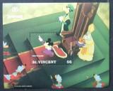 1991 - Saint Vincent- Disney - Prince annd pauper- Michel Block 186, Animatii, Nestampilat