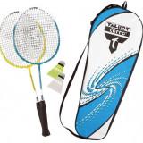 Set badminton 2 rachete attacker junior cu husa